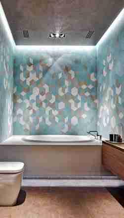 现代风格精致卫生间瓷砖亚博官网app下载效果图赏析